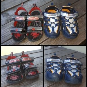 Other - Two Pairs of Superhero Sandals, Size 6